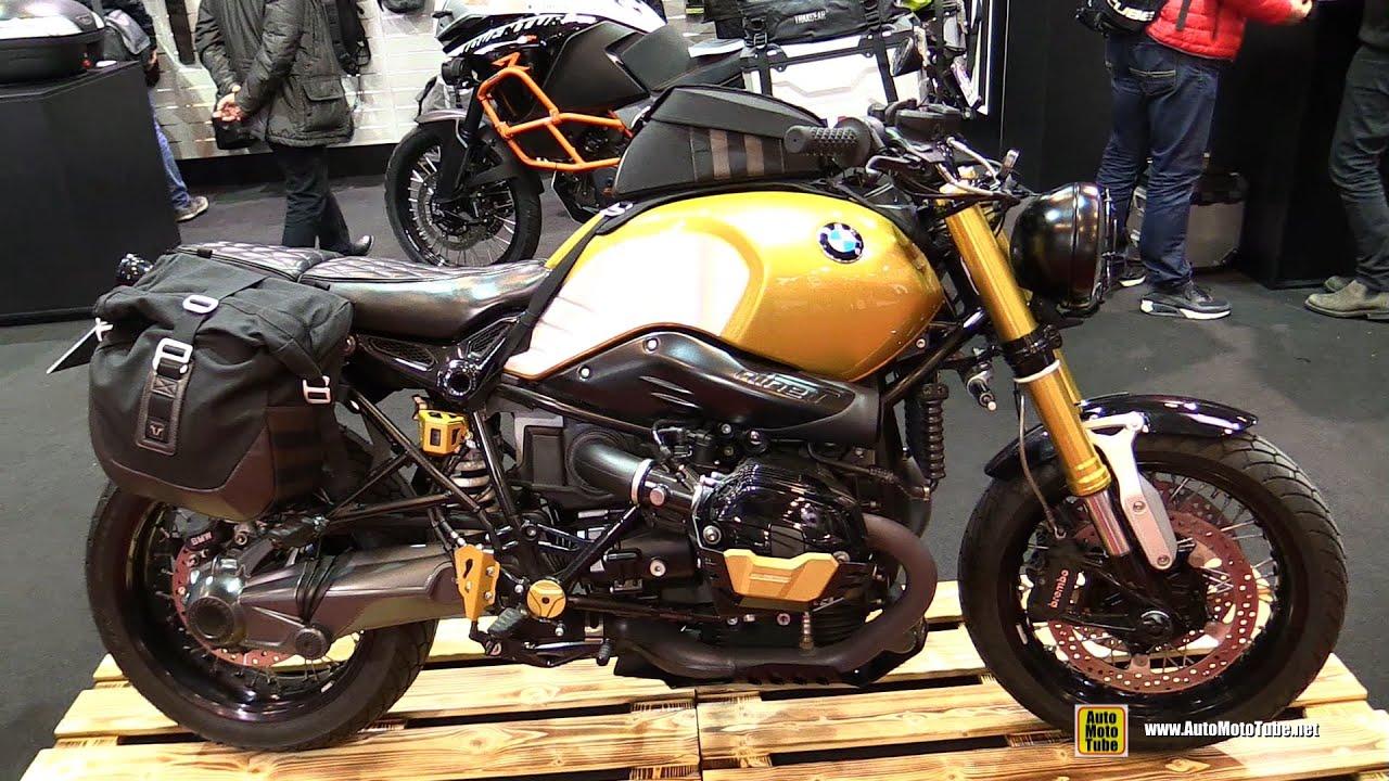 2016 bmw r ninet customized by sw motech walkaround 2015 salon de la moto paris youtube. Black Bedroom Furniture Sets. Home Design Ideas