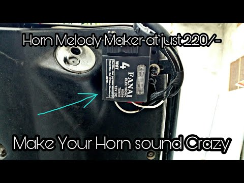 Make your horn sound crazy| Horn melody maker| Installation| Modified Activa| like pressure horn🙏