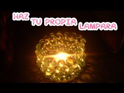 Lampara de canicas como hacer una lampara con canicas diy - Como hacer lamparas ...