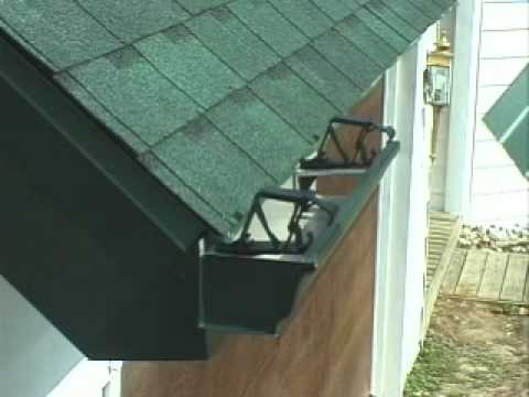 Gutter Protection Install Slanted Raked Fascia Youtube