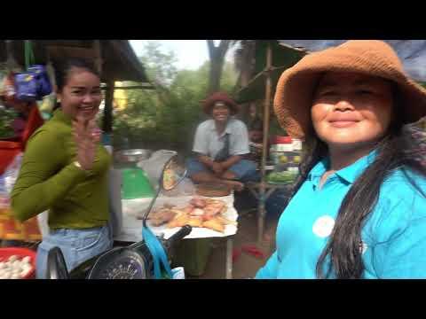 Morning Market Scenes - Amazing Street Food At Vihear Sour (Phsar Kramoun) Kandal Province