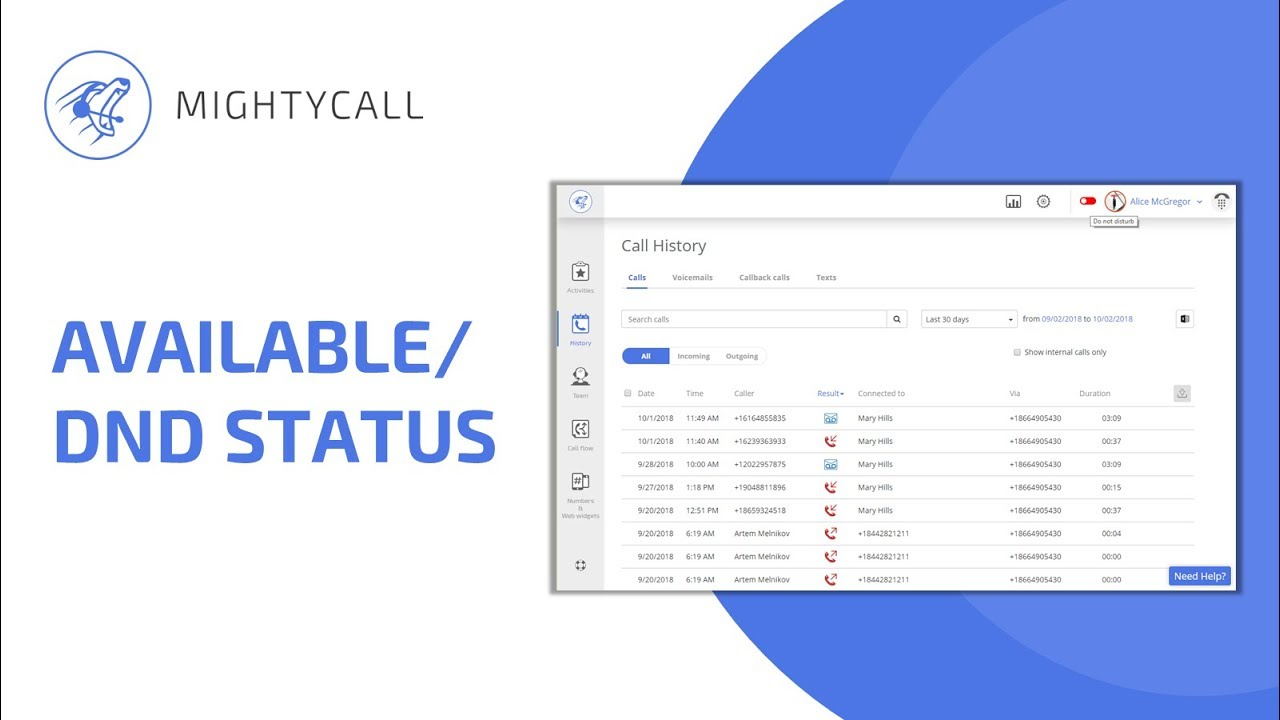 Personal Settings | MightyCall Support