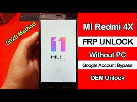 MI Redmi 4X FRP Google Account Bypass (MIUI 11) OEM Unlock Without Pc 20...