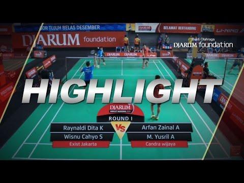 Raynaldi Dita K/Wisnu Cahyo (Exist Jakarta) VS Arfan Zainal A/M  Yusril Alfansyah (Candra Wijaya)