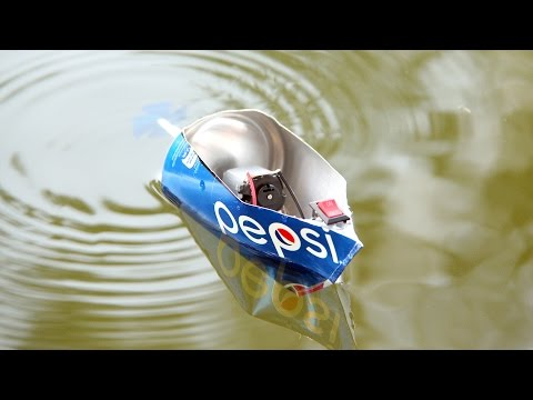 How To Make A Electric Motor Pepsi Boat - Toy Motor Boat DIY