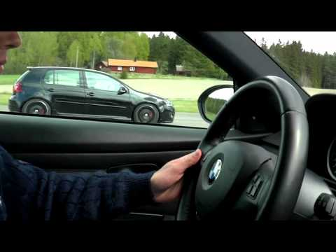 VW Golf GTI Giac stage 3 VS. BMW M3 e92. rolling start