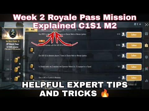 C1S1 Week 2 Royale Pass Mission Explained BGMI   Week 2 All RP Mission BGMI C1S1 M2   C1S1 M2 Week 2