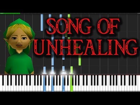 Song of Unhealing - The Legend of Zelda: Majora's Mask [Piano Tutorial] (Synthesia)