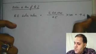 "CA IPCC Cost ""Marg Costing Part-B"" @ CA Institute--Bhadani Coaching Centre"