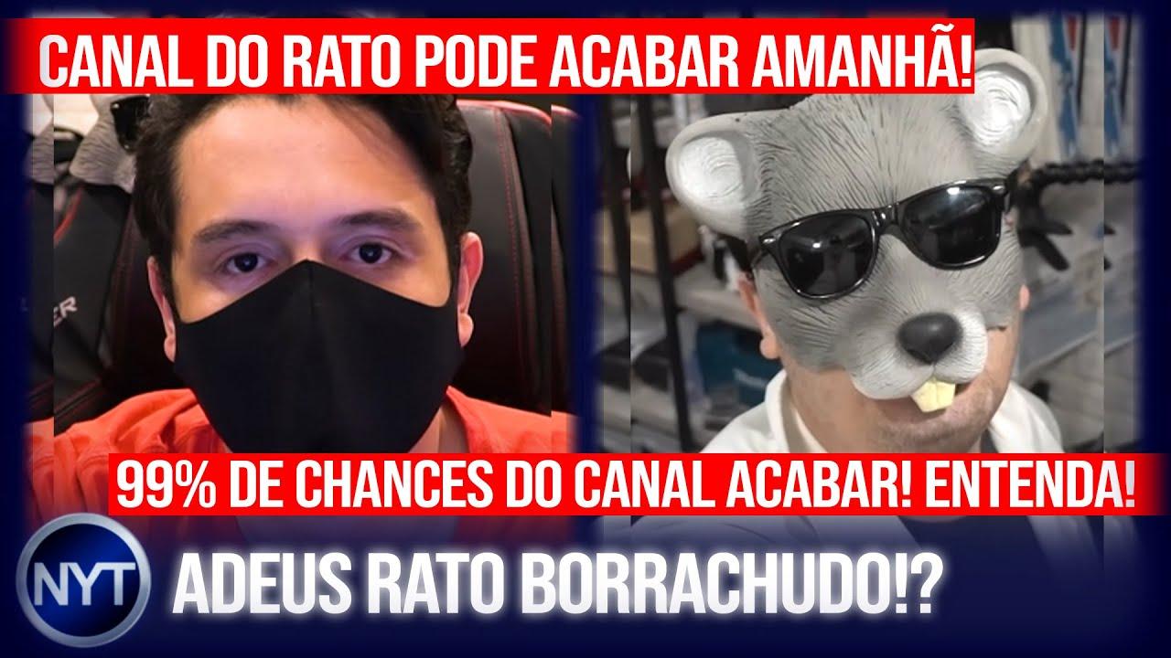 ADEUS @Rato Borrachudo!? YouTuber se pronuncia após ser notificado que seu canal será ENCERRADO!