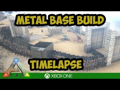 Ark Xbox: Timelapse! Metal Base Build (No Cheats)