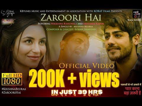 ZAROORI HAI_Official Video | Krishna...