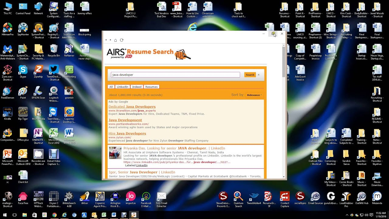AIRS resume search - YouTube