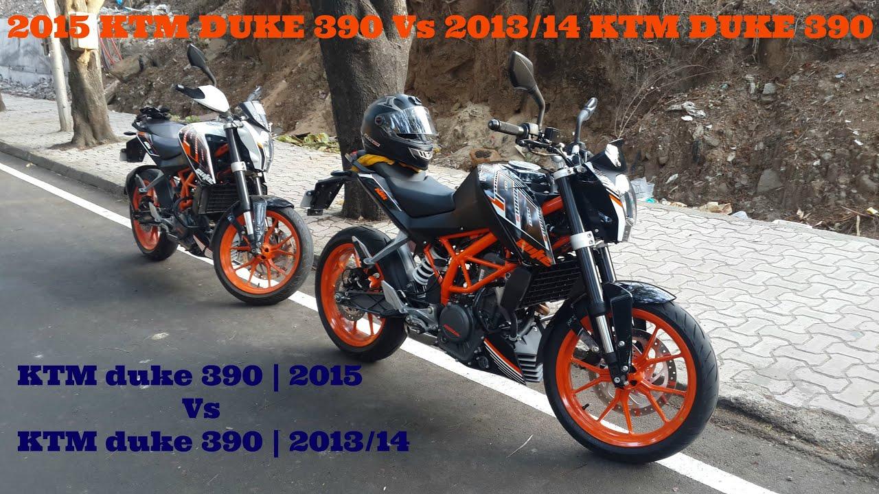 2015 ktm duke 390 vs 2013/2014 ktm duke 390 | review - youtube