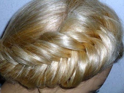 Косичка Рыбий хвост.Причёска для средних волос.Плетение волос, плетение косичек
