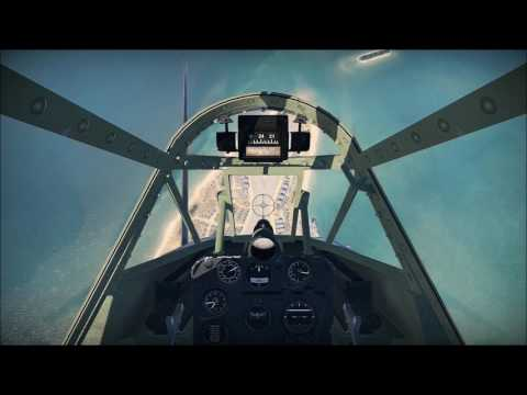 Dive-bombing in an SBD-3 Dauntless (cockpit view)