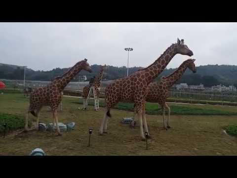 Real size animal sculpture Animatronic realistic Giraffa statue Model