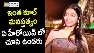 Pooja hegde cool behaviour with media @tirupati || dj movie, allu arjun - filmyfocus.com