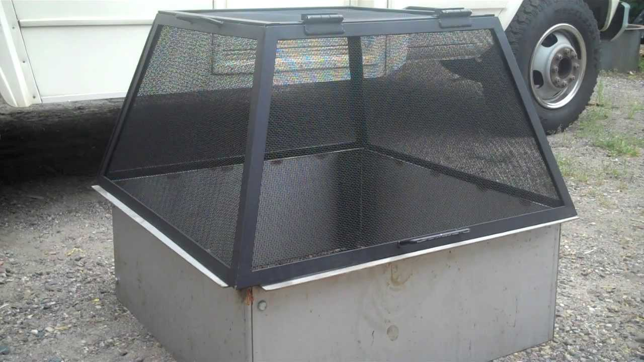 Beautiful Fire Pit Spark Screens Part - 10: American Made Fire Pit Spark Screen - HigleyFirePits.com - YouTube