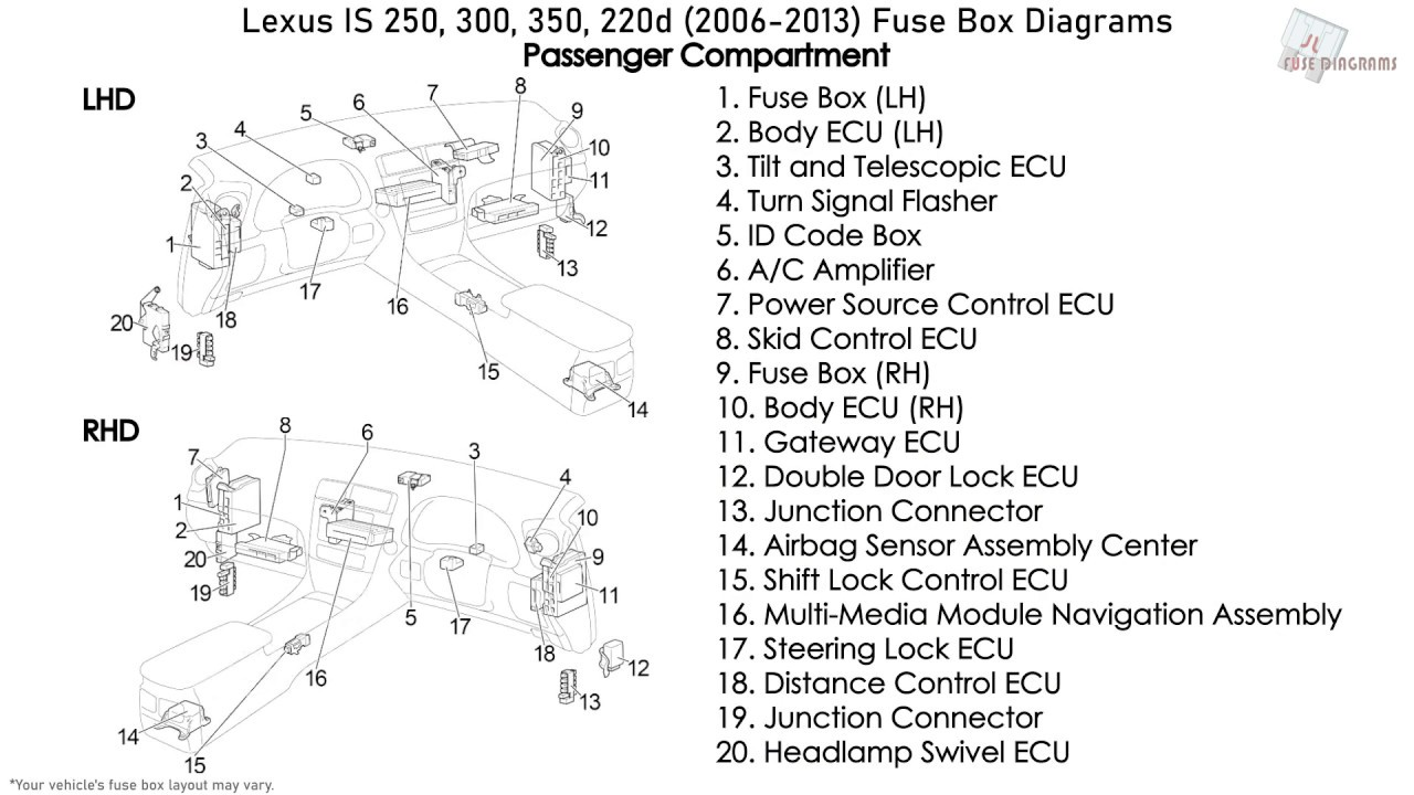 [DIAGRAM] Lexus Is250 Fuse Diagram FULL Version HD Quality