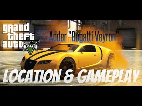 "Fastest Car In Grand Theft Auto 5 - Adder ""Bugatti Veyron ..."
