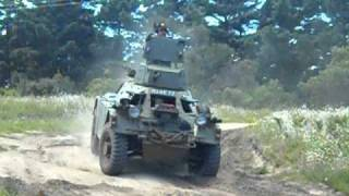 Driving  a Ferret Scout Car