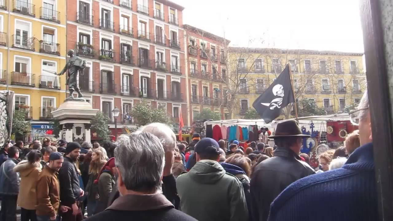 Plaza de cascorro el rastro madrid youtube - Cascorro madrid rastro ...