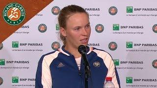 Caroline Wozniacki - Press Conference after Round 1 I Roland-Garros 2018
