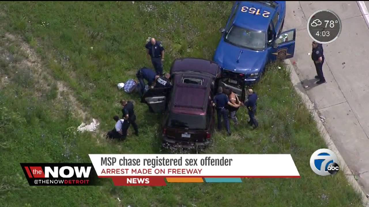 Michigan State Police Chase Registered Sex Offender - Youtube-3081
