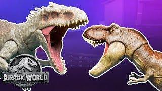 T-Rex Vs. Indominus (Sweded) | Jurassic World | Mattel Action!