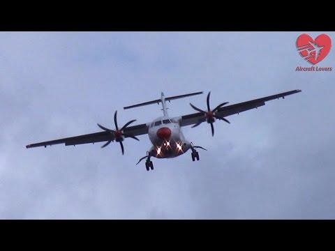 "DANGEROUS Crosswind Landing During Heavy Storm ""Niklas"" │ DAT ATR 42 │ Germany, Berlin 31.03.15"