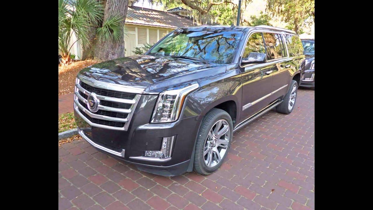 2016 Cadillac Esv Dark Granite Metallic Youtube