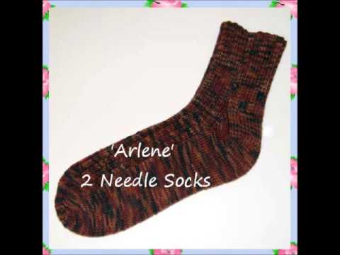 Arlene Ladies Ribbed Socks Worked Flat Top Cuff Down On Two Straight