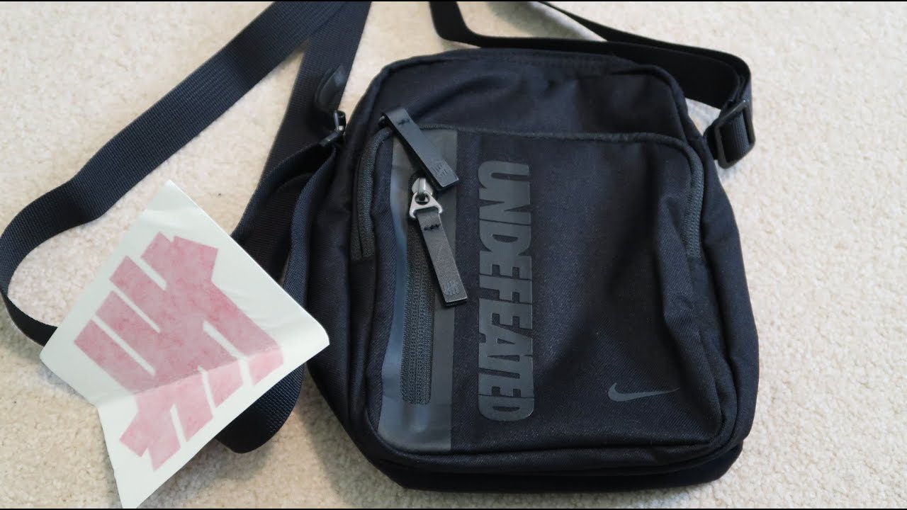 2d871d37627 Undefeated x Nike Tech Side Bag Shoulder Bag Unboxing - YouTube
