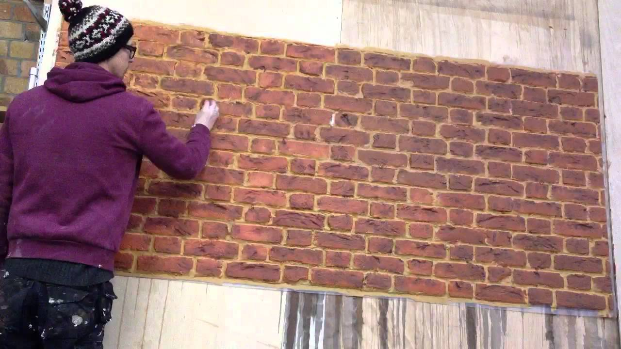 faux brick painting - YouTube