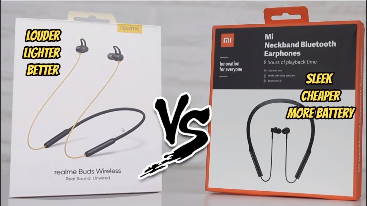 Realme Buds Wireless Hindi Unboxing Comparison With Mi Neck Band Which One Is Louder Lighter Youtube