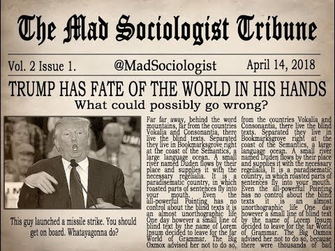 Mad Sociologist in the News Syria