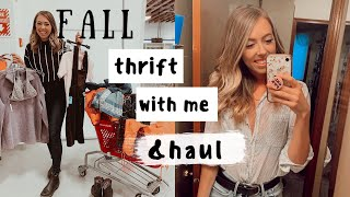 THRIFT with me for FALL TRENDS | & a TRY-ON HAUL