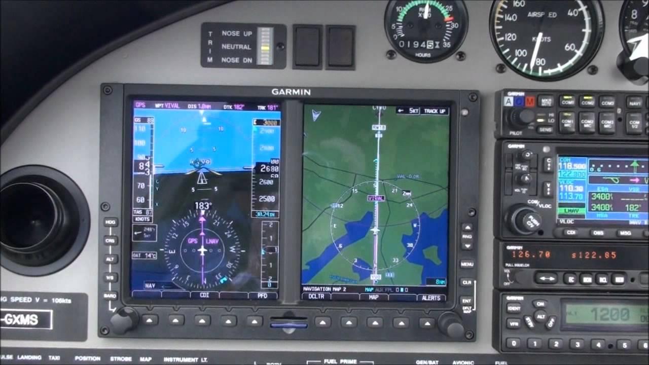 Garmin Gps Watch >> DA20-C1 G500 GPS approach HD - YouTube