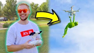 Kermit The Frog CRASHES Expensive Drone!!