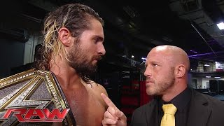 Seth Rollins has words with J&J Security: Raw, June 15, 2015