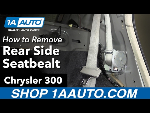 How to Remove Install Rear Side Seatbelt 05-10 Chrysler 300