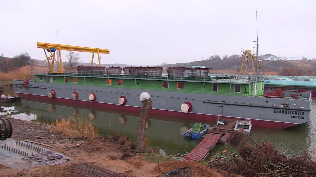 Новая плавучая насосная станция в Быково