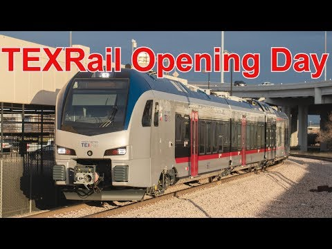 TEXRail Opening Day