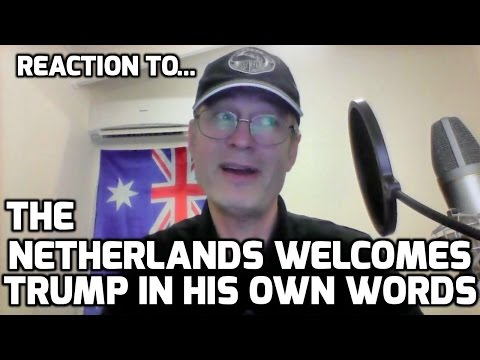 Thumbnail: The Netherlands welcomes Trump in his own words REACTION! (and my badly spoken Dutch)