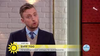 Före detta landslagsspelare skickade penisbilder till kvinnlig kollega - Nyhetsmorgon (TV4)