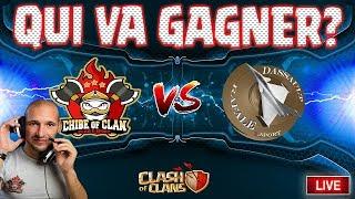 🔴 CHIBE OF CLAN VS DASSAULT RAFALE   FIN DE GUERRE ÉPIQUE   Clash of clans
