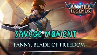 Fanny Savage Moment 2017 old & new map mobile legends ( tz zxuan, saints oura, dll )