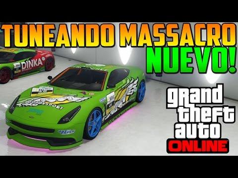 Tuneando Massacro (Carreras) - Nuevo Coche DLC Navidad GTA 5 Online - GTA V Online PS4