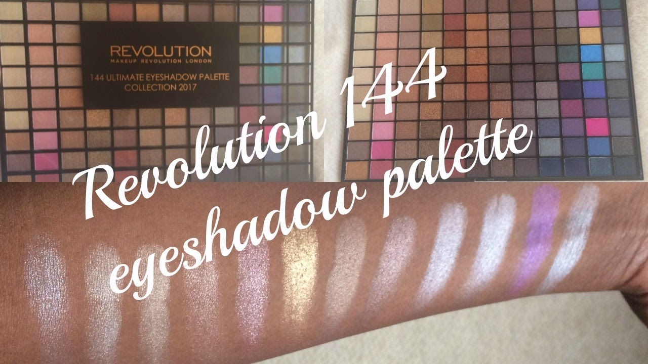REVOLUTION 144 EYESHADOW PALETTE COLLECTION 2017 |THOUGHTS AND SWATCHES/Shaunz World - YouTube
